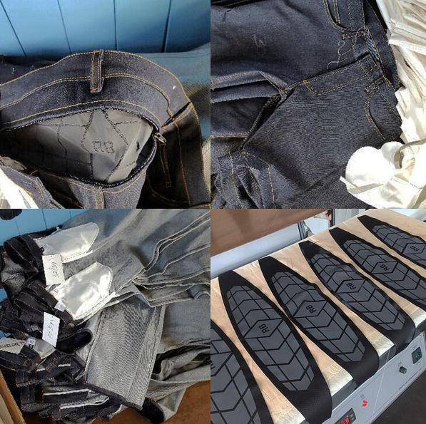 Jeans waiting to be shipped from our UK factory