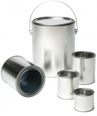 Paint Cans :   We offer paint cans from 1/4 pint to 1 gal with different linings for a variety of product uses.