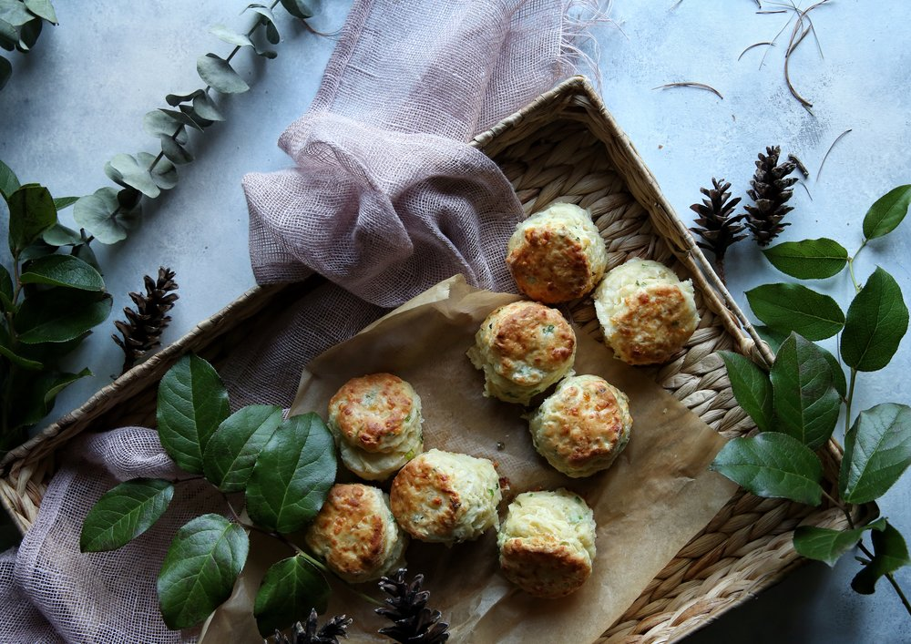 Flaky Cheddar and Scallion Biscuits by Judy Kim