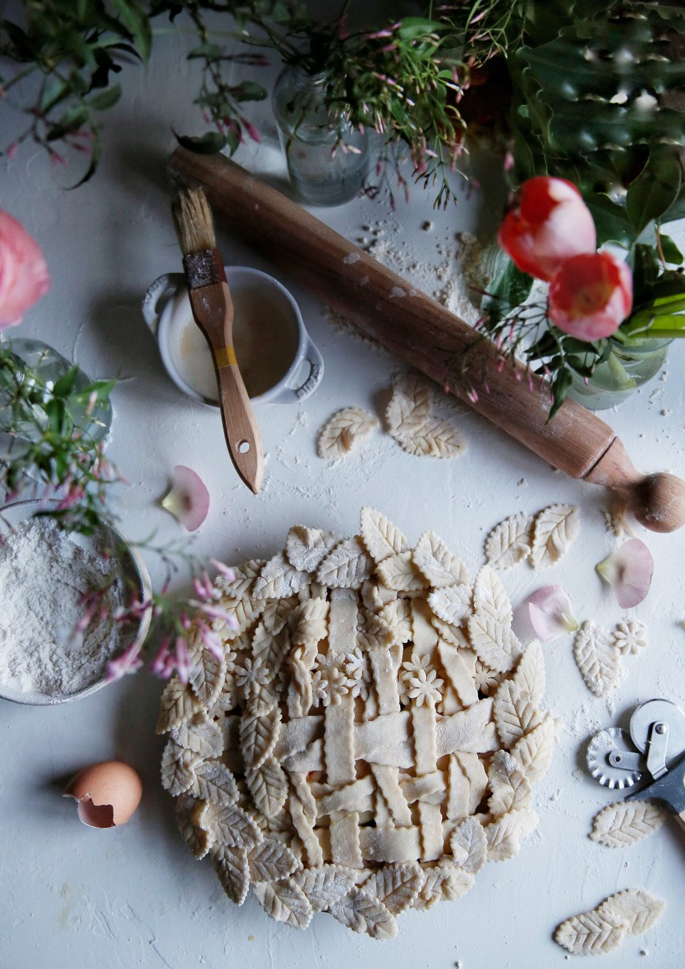 Apple and Blood Orange Garden Trellis Pie by Judy Kim | The Judy lab