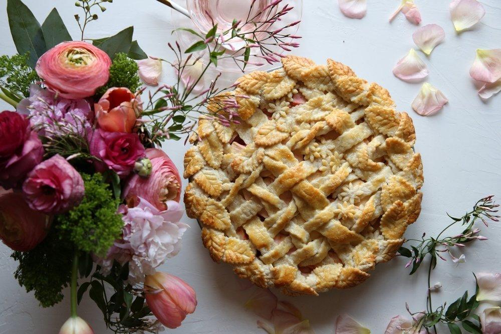 Apple and Blood Orange Garden Trellis Pie by Judy Kim | The Judy Lab