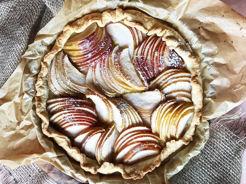 Apple Tart with Ruffled Edges