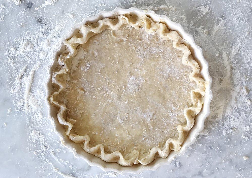 rustic pie dough by judy kim