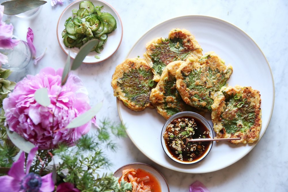 Korean Mung Bean and Kimchi Pancakes by Judy Kim.jpg