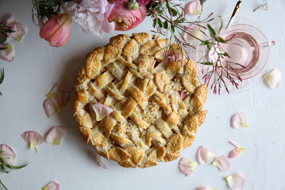 Judy Kim, Pie Workshop, Garden Trellis Apple Blood Orange Pie Recipe