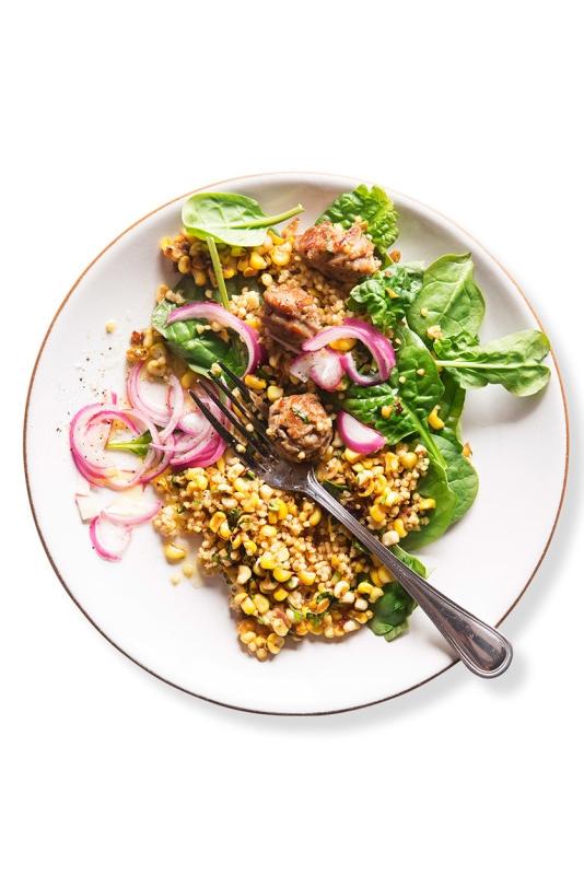 Judy Kim, Nyc Food Stylist, oprah, sausage corn basil millet salad.jpg