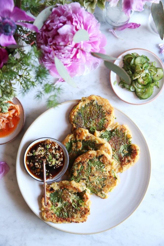 Judy Kim, Food Stylist, Korean Mung Bean Pancakes
