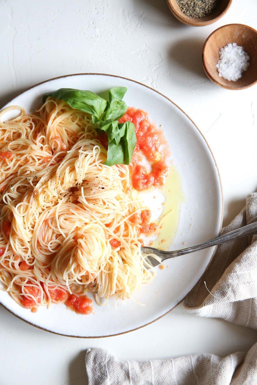 Judy Kim Pasta Pomodoro  for Delish