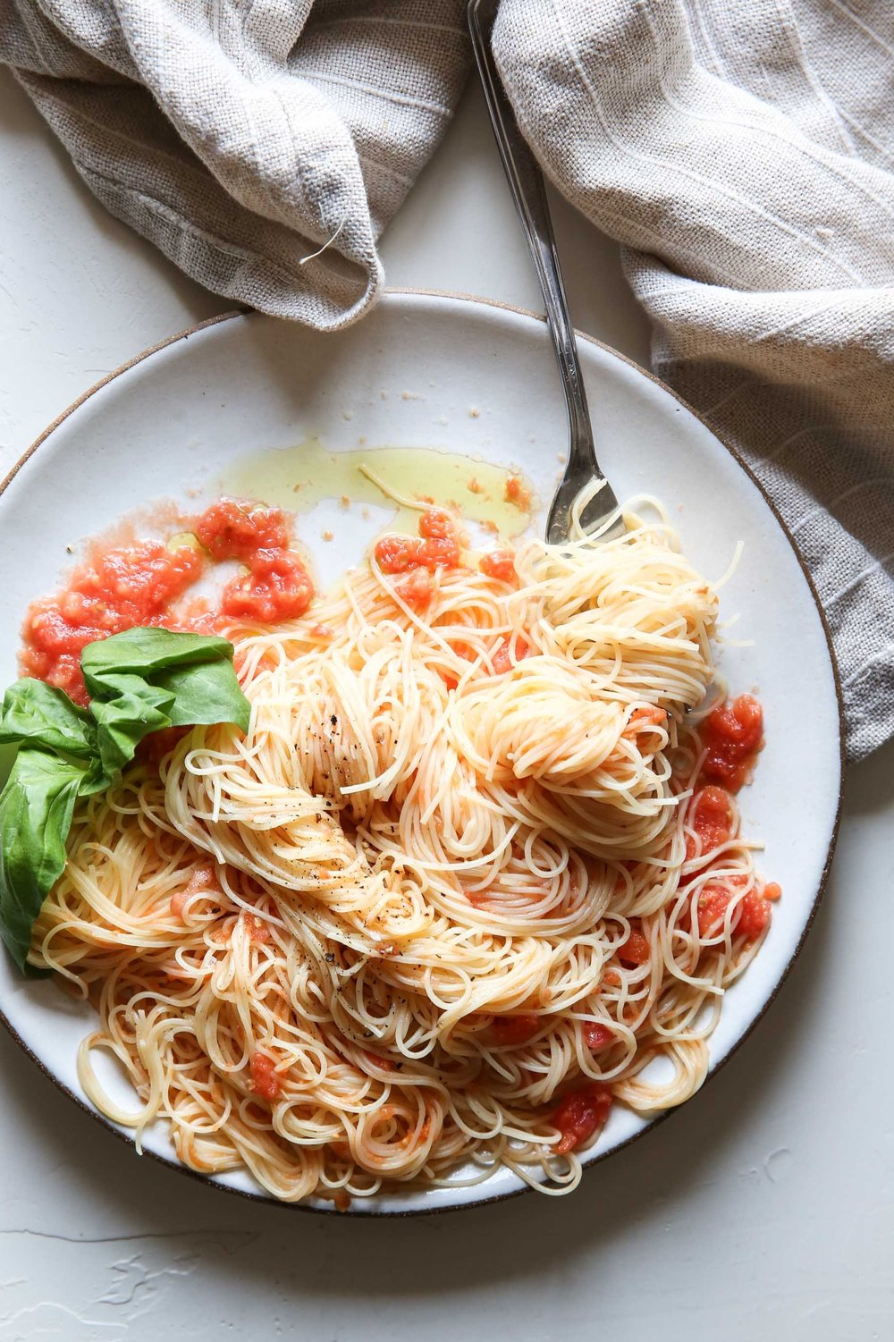 Angel Hair Pomodoro, Food Stylist Judy Kim