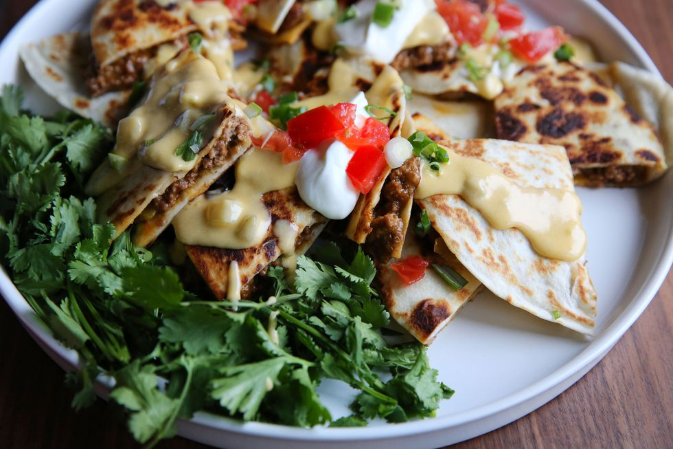 Beef Quesadillas with Queso Blanco Sauce_Judy Kim