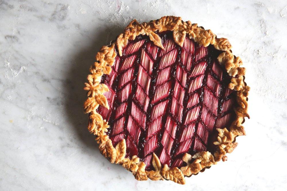 Raspberry Rhubarb Tart, Food Stylist Judy Kim, Martha Bakes Season 10