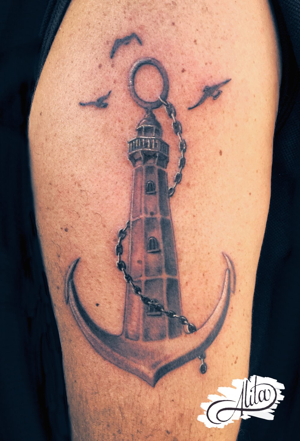 anchor lighthouse