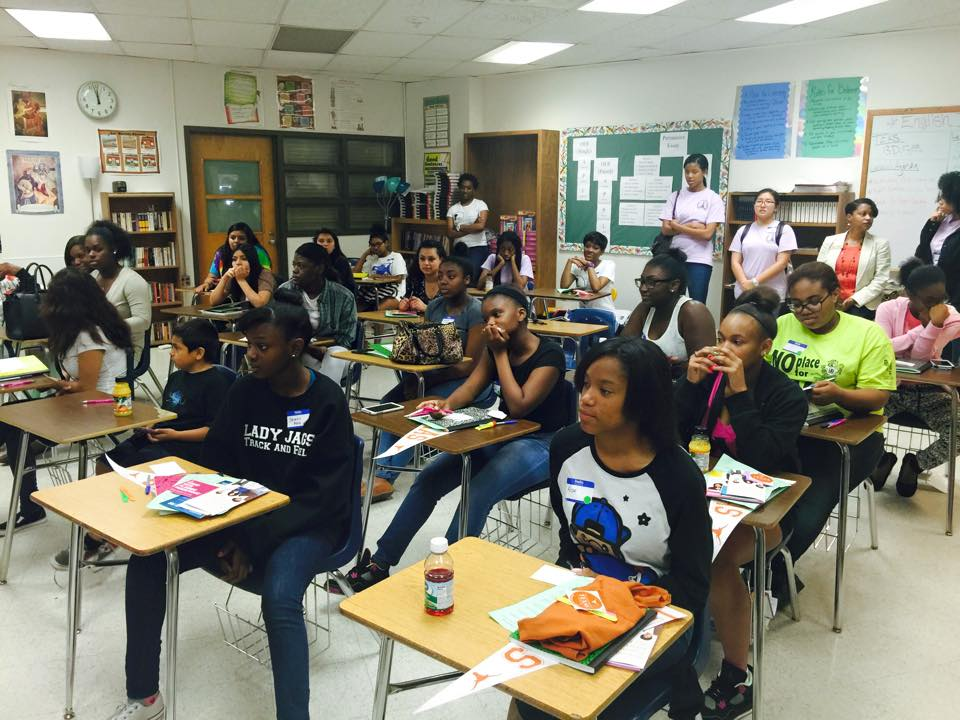 "Queen ""Be"" workshop with Lyndon B. Johnson, Reagan, and Lanier High Schools"