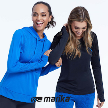 Marika - The original women's fitness brand. Marika was founded in San Diego, California in 1982 during the aerobics exercise boom. Today, we are one of the top 3 U.S. brands in the yoga-inspired active wear category, growing at 30% compound annual growth rate. We specialize in Patented Shape Enhancing products. 80% of our consumers choose our products for lifestyle wear and we are carried in more than 10,000 doors with America's leading retailers. Marika was acquired by FAM Brands in 2008 and they are continuing to increase presence in global markets.Visit Website