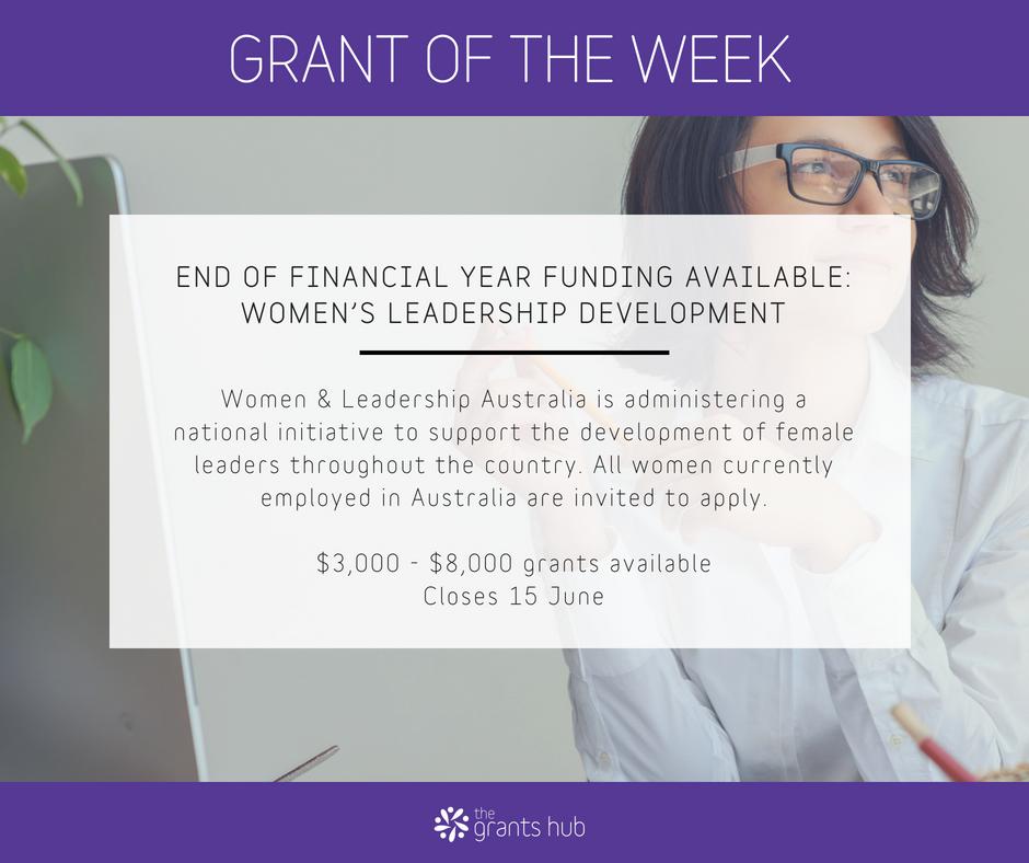 Women S Leadership Development The Grants Hub