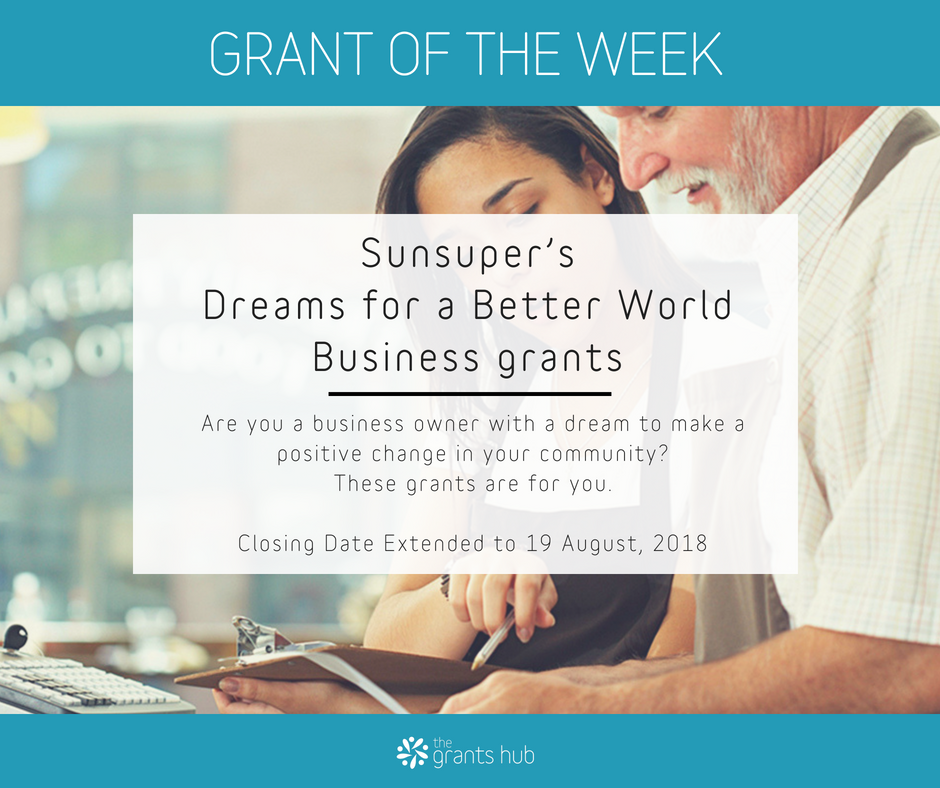 Sunsuper's Dreams for a Better World Business grants