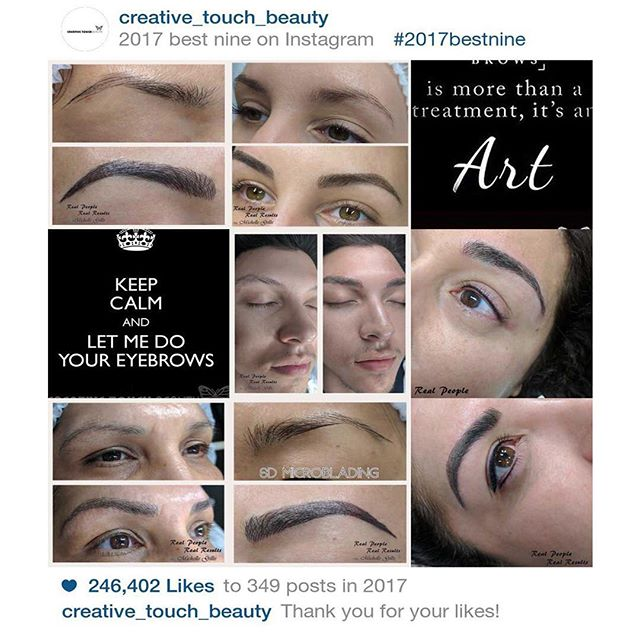 TBT to an amazing year! Thank you all for the likes, supports, comments and feedback! 2017 has been a really busy year and I'm really looking forward to an amazing 2018! Call (916) 571-2771 to book your appointment or visit www.creativetouchbeauty.com for more info. #microbladingartcenter #folsom #microbladingartcentersacramento #sacramento #granitebay #eldoradohills #microstrokes #featherstrokes #microblading #wakeupwithmakeup #microbladingtraining #creativetouchbeauty #alopecia #girlswithtattoos #eyebrows #brows #microbladingsanfrancisco #lipsmakeup #makeupmafia #transformation #makeupartist #permanenteyebrows #naturaleyebrows #microbladingfolsom #beautiful #microbladingmen #inspiration #makeup #permanentmakeup #sacramentomicroblading