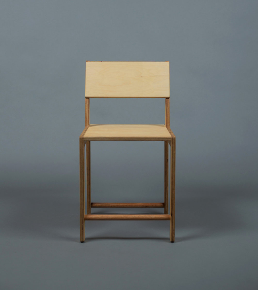 Leaning Back Dining Chair / WAKA WAKA Wood SPEC SHEET - Inquire within - info@smalloffice.info
