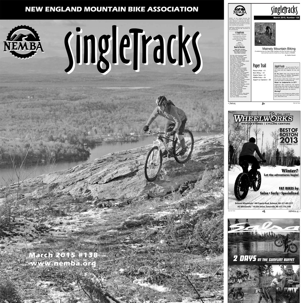NEMBA SINGLETRACKS MAGAZINE: MARCH 2015   COVER IMAGE