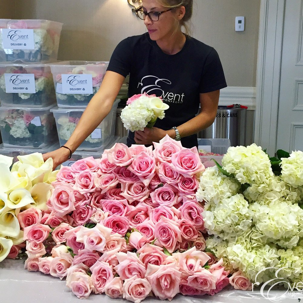 We REARRANGE your donated flowers into individual  BEDSIDE BOUQUETS,  carefully curated   with a fresh cut and add floral vitamins to keep blooms fresh.