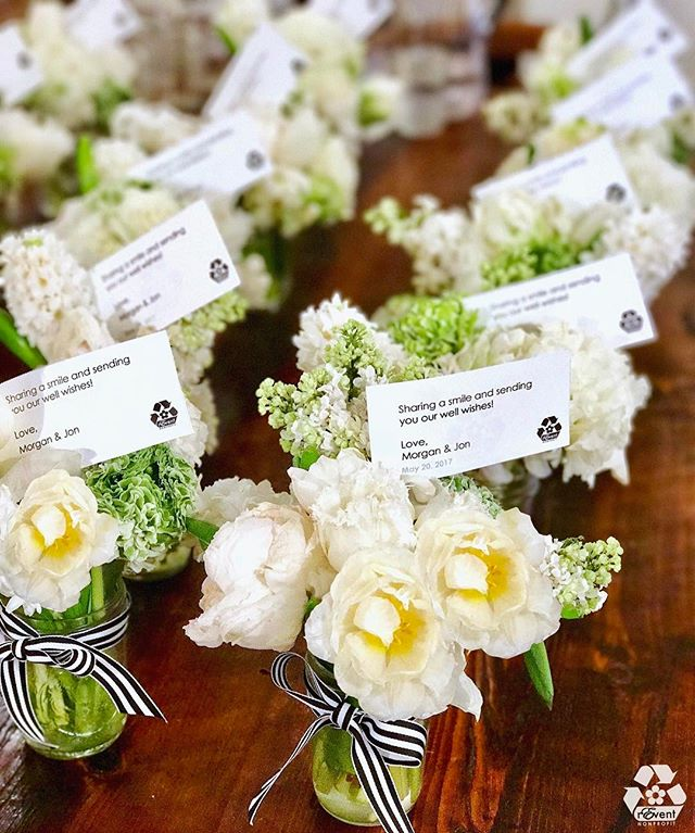 Congrats Morgan & Jon! Thanks for choosing  #rEventYourEvent 💐♻️ . . .  #SustainableEventService repurposed flower donation into #BedsideBouquets for Memorial @SloanKettering Cancer Center patients . . .  Many thanks to the incredible Angie of @BATONnyc  #HarvardClubOfNewYork  #NYWedding  #StPatricksCathedral  #MSKCC  #springwedding  #weddingflowers #repurposeflowers #sustainableevents #gogreen #giveback