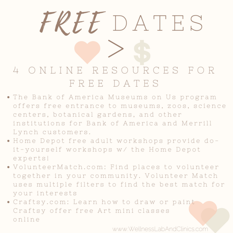 4 free date night ideas wellness lab clinics check out this list of sites that provide free dates or free access to events hyperlinks provided below solutioingenieria Choice Image