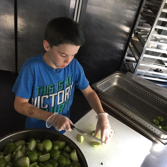 Come to Taco Lago to try our tomatillos salsa prepared by my skilled young chef!