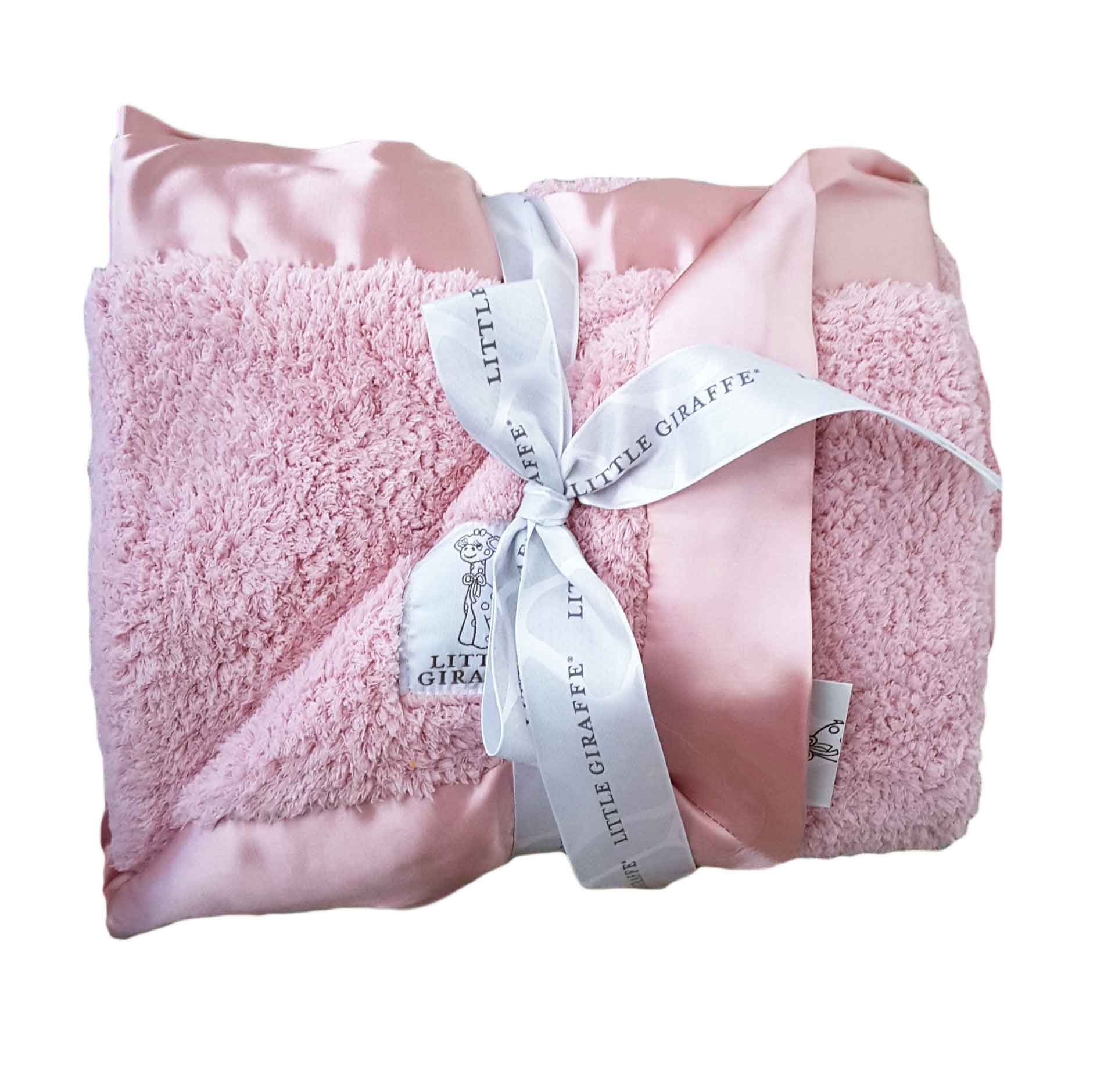 Pink Little Giraffe Pink Chenille Security Blanket