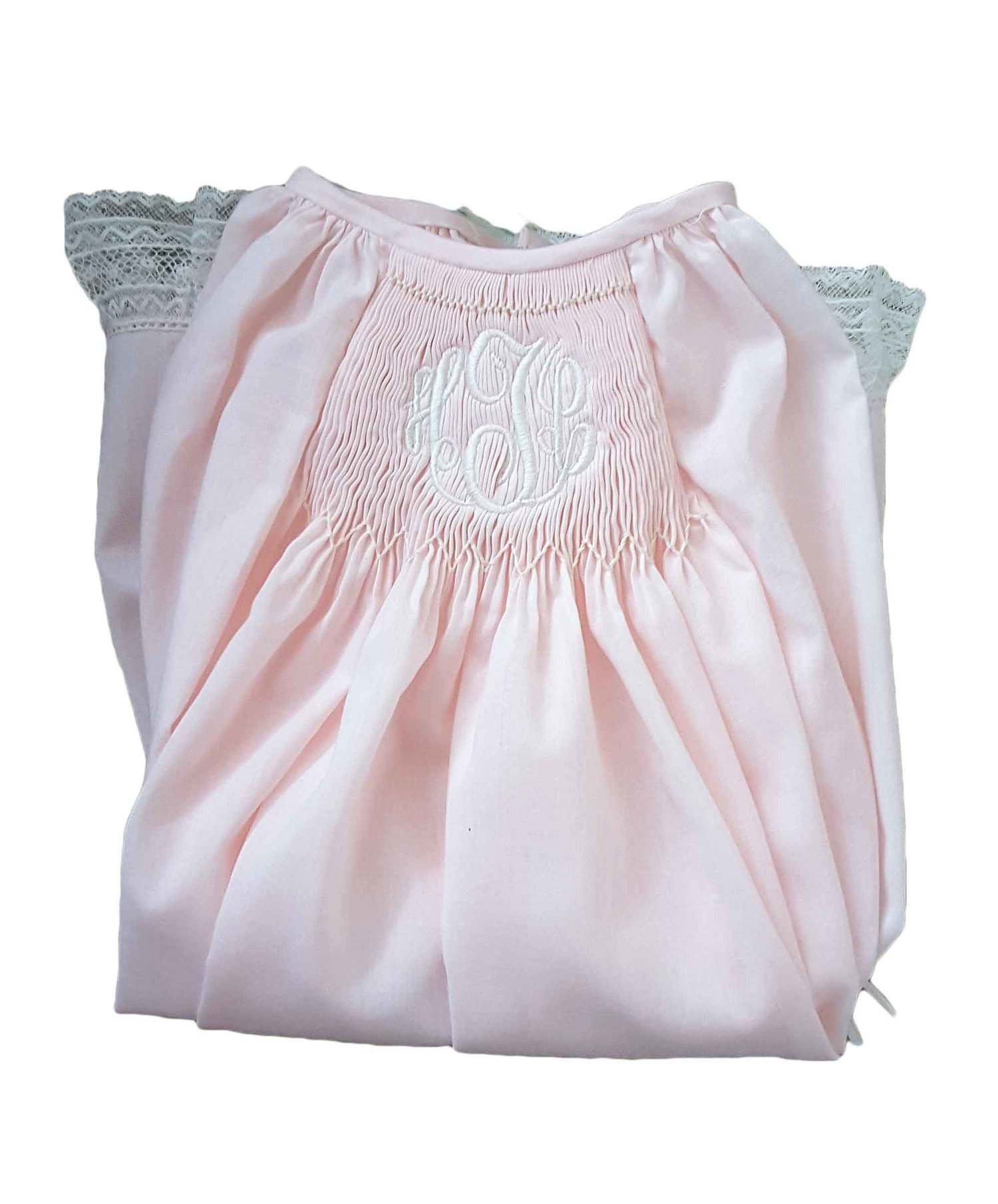 Ballet Pink Smocked Monogrammed Baby Gown by Granny\'s Attic — Ballet ...