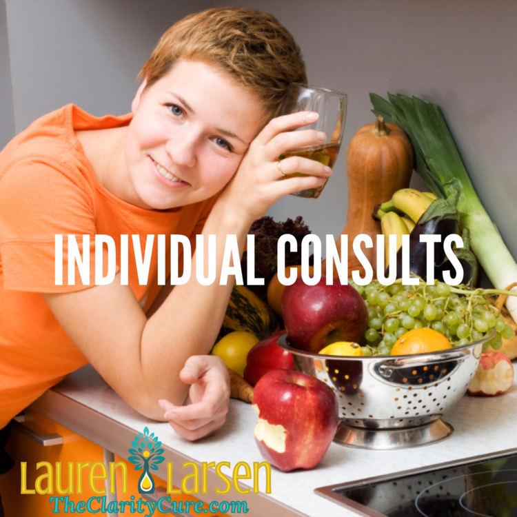 shop-health-coaching-individual-consults | The Clarity Cure | Lauren Larsen