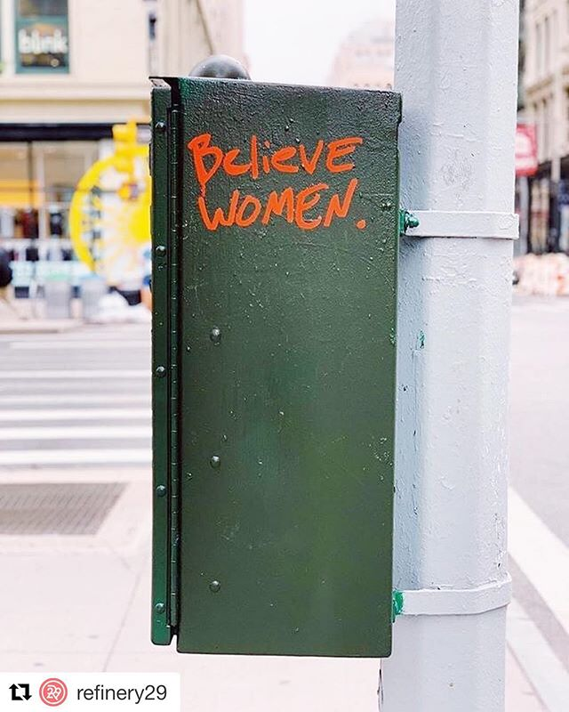 ⚡️YES⚡️#repost @refinery29 — We still believe women. We still say 👏enough is enough👏. #AcknowledgeIsPower #HereForYou #R29Regram: @bootswallace