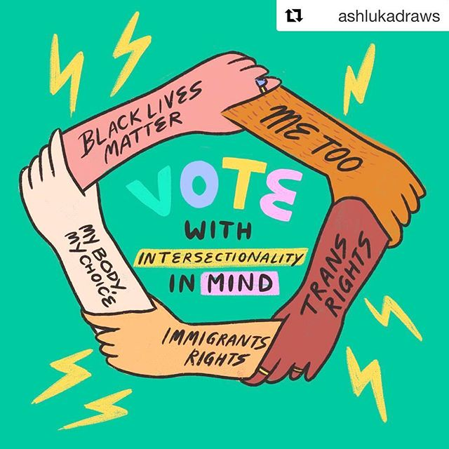 ✔️🗳✔️✊✔️ #repost @ashlukadraws ~  #vote #govote #electionday #powertothepolls #voteemout #wevoted