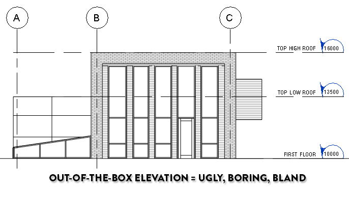 out of the box Revit elevation
