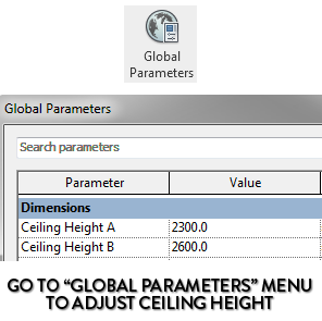 how to show ceiling height in a room tag revit pure