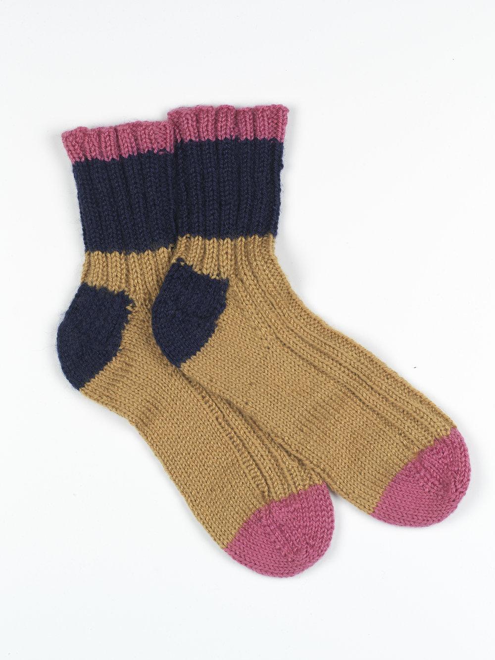 Striped Rib Socks