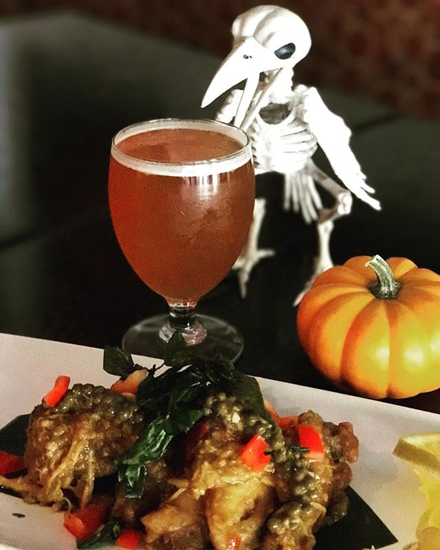 This Halloween season, try our Murder Wings with a craft IPA! They're to die for! #benthaisf #halloween #foodporn
