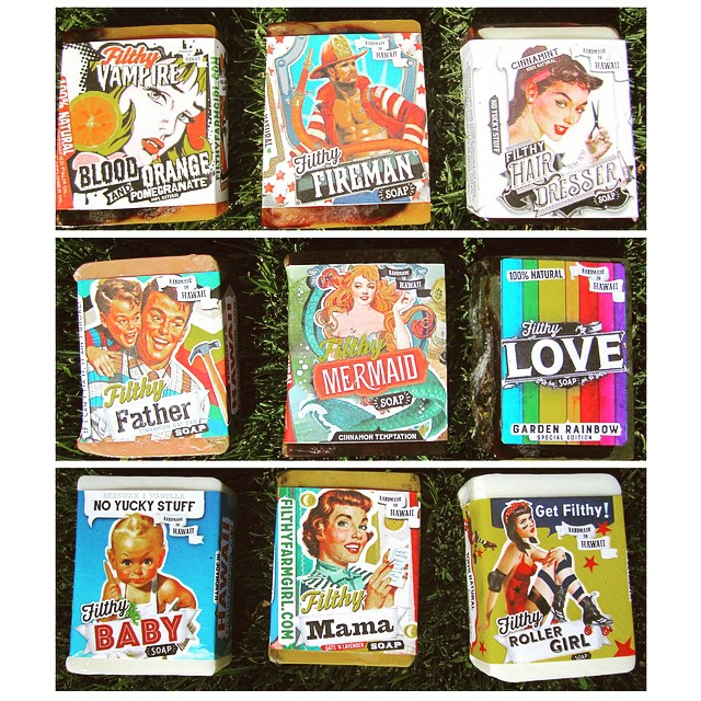 We're so excited #filthyfarmgirl soaps are restocked! With new fresh scents added you don't want to miss these! Can't make it in? Call us at 808-886-0303 to place an order, we ship anywhere in the U.S. For FREE! #persimmonwaikoloa #filthyfarmgirl #hawaii #locallymade