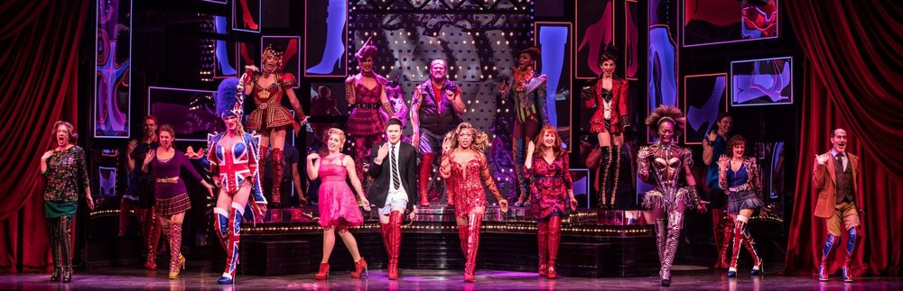 The cast of Kinky Boots with Todrick Hall and Aaron C. Finley