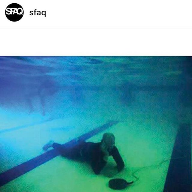 "Check out ""Thinking Bodies: Heavy Breathing 2015-2017"" by @windowonder in the latest issue of @sfaq 💧💧💧 Read the full text at SFAQ.us Vol 2 Issue 7 💧💧💧 image: Olivia Mole's underwater Heavy Breathing session ""Topos: That's What She Said"" @bestguesslegs @heavyheavybreathing @windowonder @yoyo.lisa #heavybreathing #criticalsomatics @bampfa"