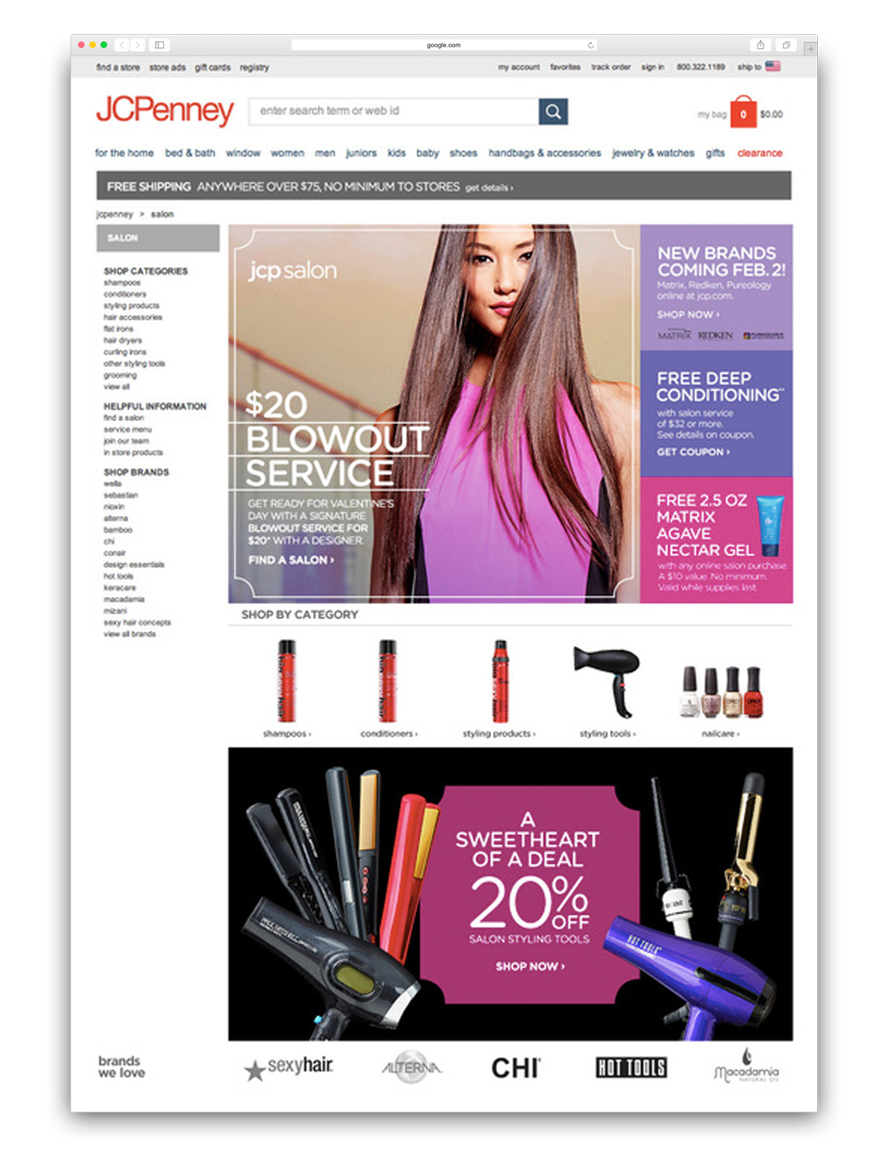 JCP Salon homepage