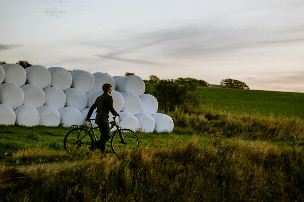 bikeride through farmland in norway