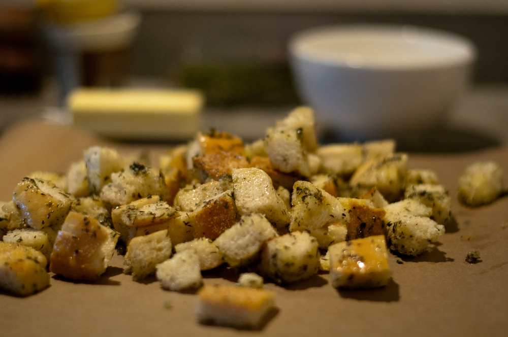 The Best Herbed Croutons