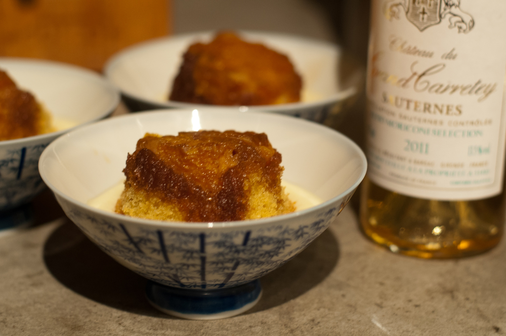 Orange Butter Cakes with Orange Muscat