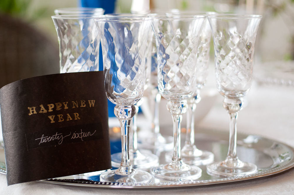 Champagne Glasses for New Years
