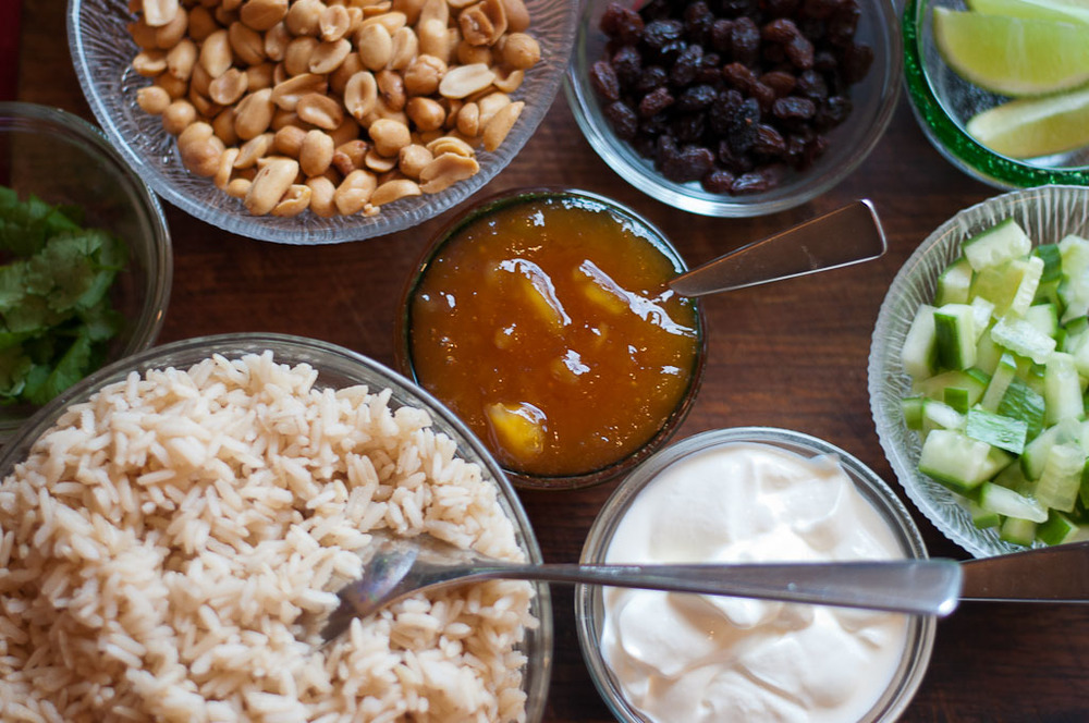 Coconut Curry Toppings