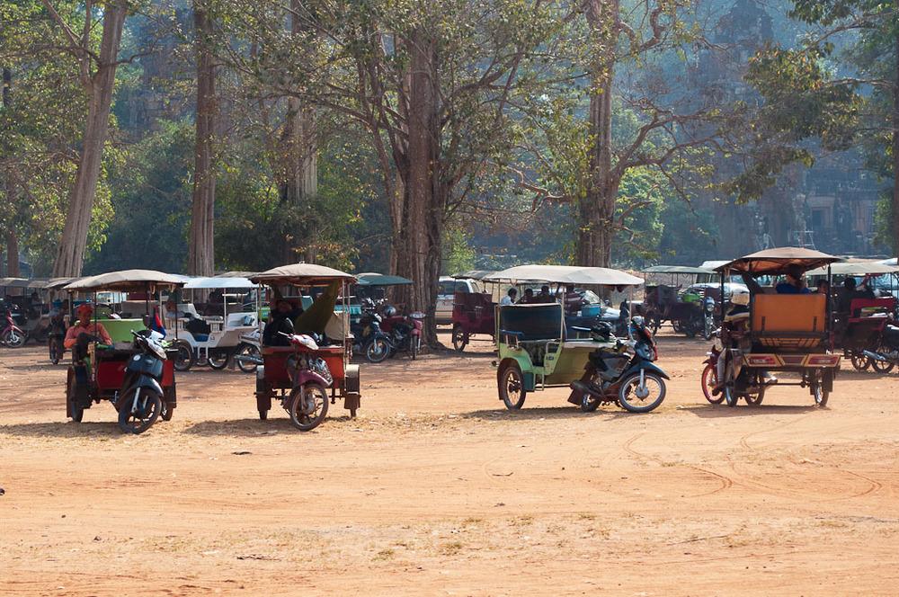 Tuk Tuks in Siem Reap