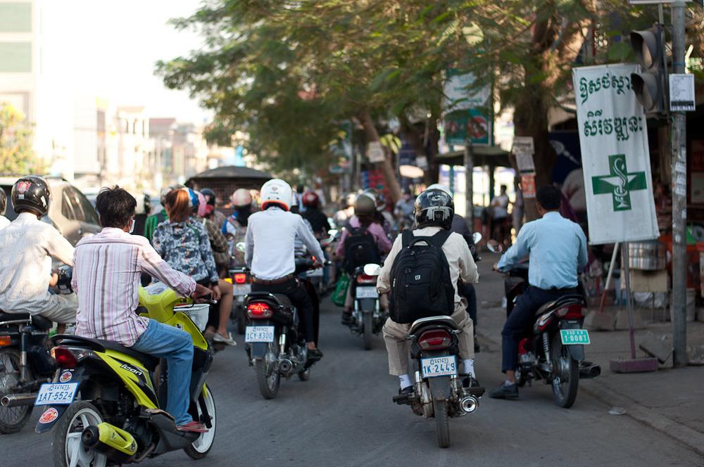 Motos in Cambodia