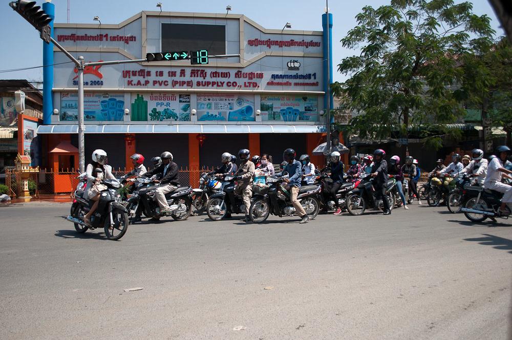 Motorcycles in Phnom Penh