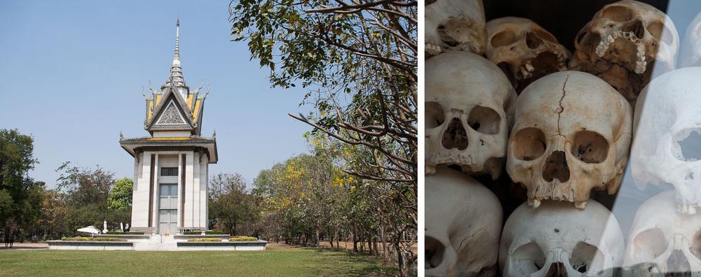Memorial Stupa at the Killing Fields Cambodia
