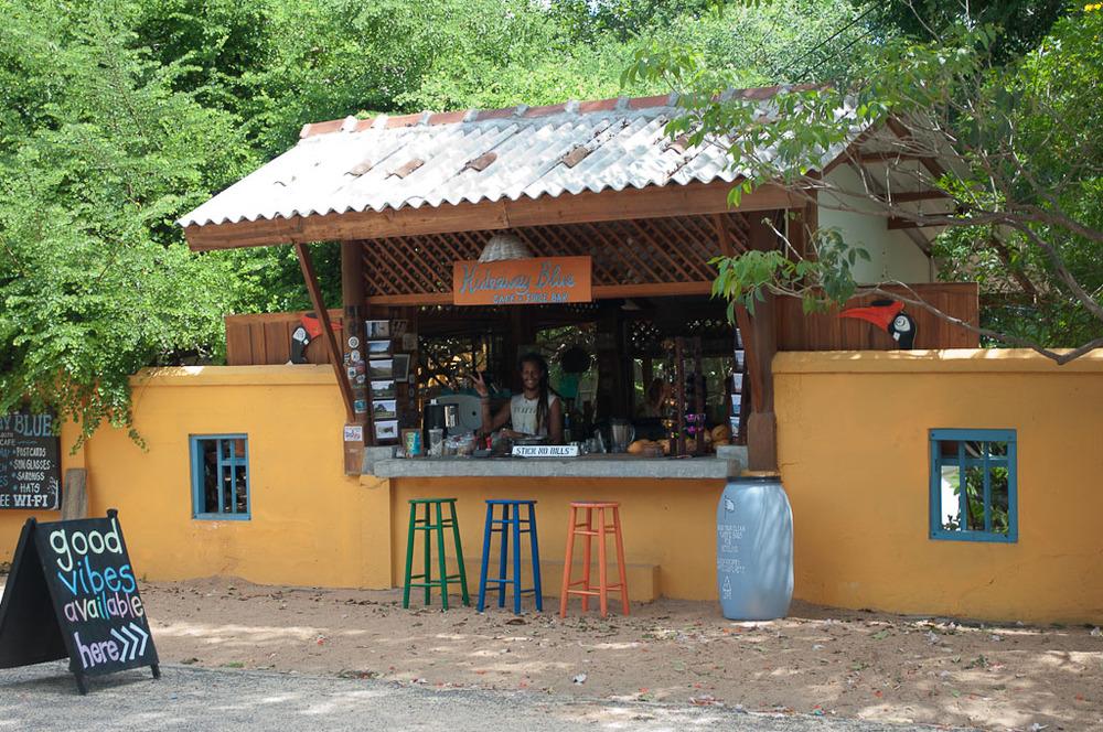 Hideaway Blue Cafe & Juice Bar Arugam Bay Sri Lanka Stick No Bills